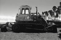 Beach Bulldozer at Night