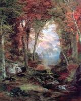 The Autumnal Woods (1865) by Thomas Moran