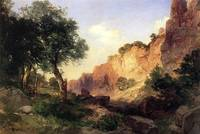 The Grand Canyon - Hance Trail (1904) by Moran