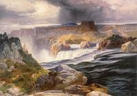 The Great Falls of Snake River, Idaho Territory