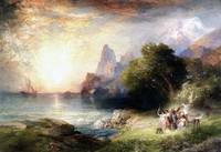Ulysses and the Sirens (1900) by Thomas Moran