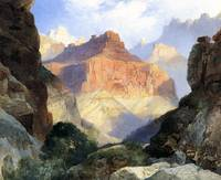 Under the Red Wall, Grand Canyon (1917) by Moran
