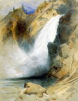Upper Falls of the Yellowstone (1872) by Moran