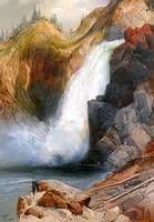 Upper Falls, Yellowstone (1871) by Thomas Moran