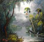 Old Florida River by Mazz Original Paintings