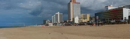 Tel Aviv Beach after the rain Panorama