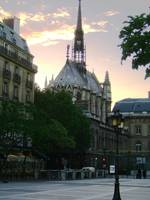 Notre Dame Cathederal at Sunset
