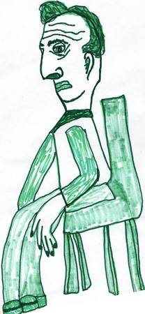Dick the Goatee man :Goatee Green Study