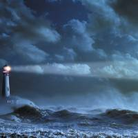"""Lighthouse In A Storm"" by johnlund"