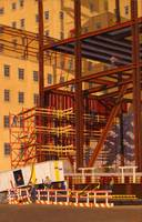 Brown Steel Girders