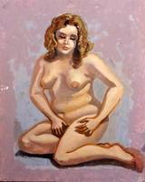 Female Nude with Brown Hair