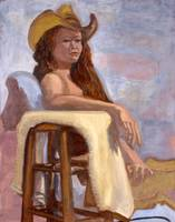 Seated Nude Cowgirl