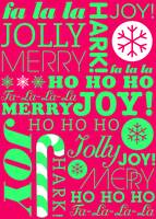 falala holiday card typeography neon green pink-01