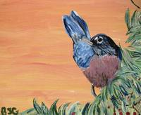 Robin - Song Bird Painting