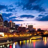 Nashville At Dusk Art Prints & Posters by Josh Hunter