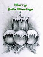 Graphite Merry Yule Candle