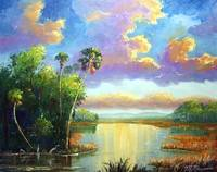 Old Florida Splendor painting