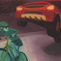Dangers of Cycling Art Prints & Posters by Cat Scott