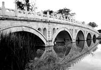 Oriental Bridge b/w, Singapore chinese garden.