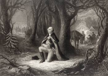 George Washington Praying At Valley Forge By Vintage Works