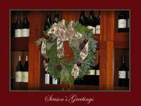 Holiday Wreath & Wine