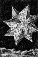 Prophecy Star-etched geometrical, illustrated 3-D