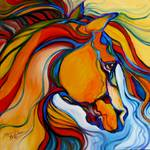 SouthWest Abstract Horse M Baldwin Original Oil