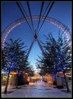 London Eye: Blue-hour HDR