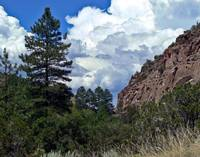 Cloudscape over the canyon