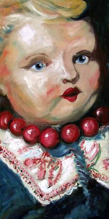 Antique Doll Painting by Ginette
