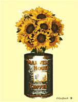 Sunflowers in Coffee Can