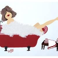 Bubble Bath Girl No Face by Barbara Wilford Gentry