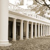 """""""Pavilions on The Lawn, University of Virginia"""" by fineartphoto"""