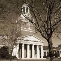 """""""Wait Chapel ; Tree, Wake Forest University"""" by fineartphoto"""