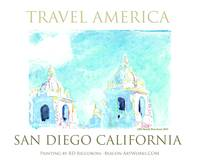 Travel America - San Diego Art Poster