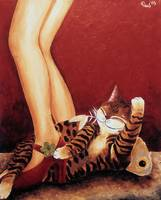 Cat art by catmaSutra - Put on your red shoes
