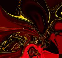 Zizzago Art Abstract Red Gold Flame 4