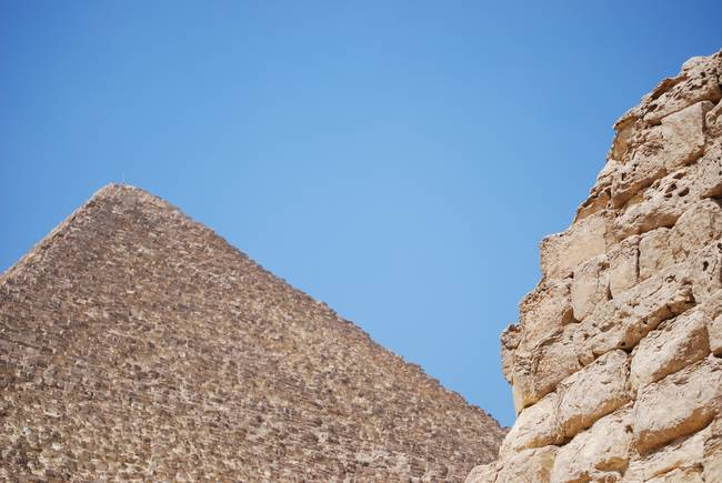 Great Pyramid and Little Pyramid - Cairo, Egypt