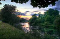 A River Taff Sunset