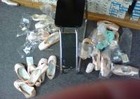 Lauren's Nutcraker Pointe Shoe Mess