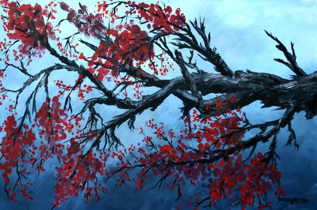 Oil Paintings Japanese Cherry Blossom By Derek Mccrea