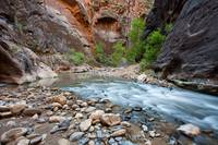 Glowing Walls and Flowing Water, Zion