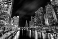 Chicago River B&W