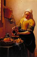 Kuchenmagd by Jan Vermeer