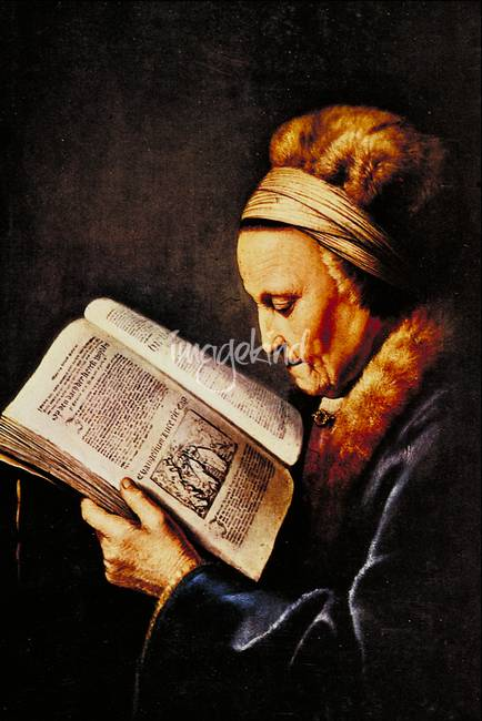 Rembrandt's Mother by Gerard Dou