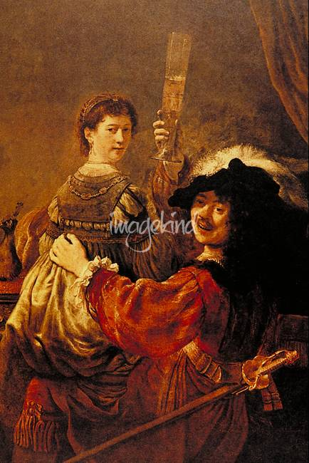 The Painter and His Wife by Rembrandt