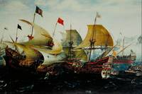 Dutch and English Warships in Battle by van Antum