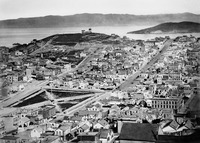 Telegraph Hill viewed from Russian Hill c1865, San