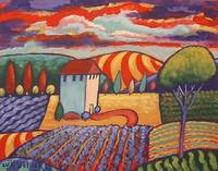 Fauve Fields Landscape