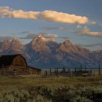 Grand Teton 2009 Moulton Barn vibrance +45 Art Prints & Posters by Gloria Garrett